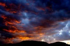 Coucher du soleil excessif Image libre de droits