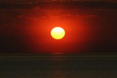 Coucher du soleil excessif Photo libre de droits