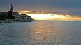 coucher du soleil excessif de ciel Photographie stock