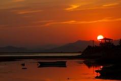 coucher du soleil exotique Images libres de droits