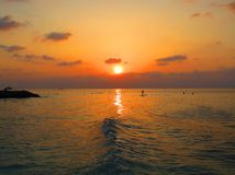 Coucher du soleil fabuleux Photos stock