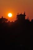 Coucher du soleil florentin Images libres de droits