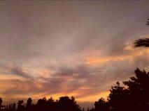 Coucher du soleil foncé étonnant chez l'automne de dinde photo libre de droits