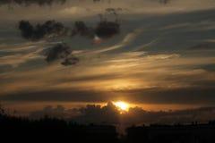 Coucher du soleil foncé photos libres de droits