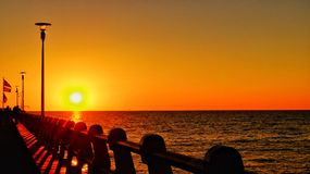 Coucher du soleil Forte dei Marmi Photo libre de droits
