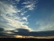 Coucher du soleil froid Photo libre de droits