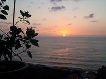 Coucher du soleil gentil dans Tropea photographie stock libre de droits