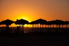 Coucher du soleil grec Image libre de droits
