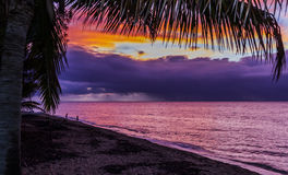 Coucher du soleil Hawaï Image libre de droits