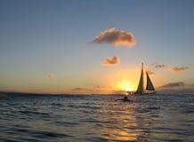 Coucher du soleil hawaïen Images libres de droits