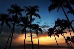 Coucher du soleil hawaïen Photographie stock