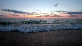 Coucher du soleil HD de mer banque de vidéos