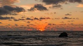 Coucher du soleil III image libre de droits
