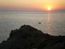 Coucher du soleil Ikaria photographie stock