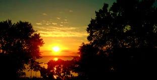Coucher du soleil incroyable Photos stock