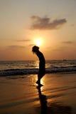 coucher du soleil indien Image libre de droits