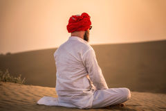 Coucher du soleil indien de maharaja Photos libres de droits