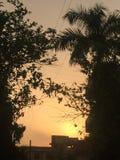 Coucher du soleil indien photos stock
