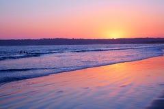 Coucher du soleil intertidal côtier de zone image libre de droits