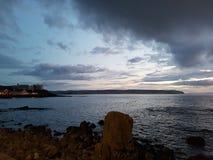 Coucher du soleil Irlande du Nord de Portstewart Image stock
