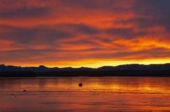 Coucher du soleil islandais Photos stock