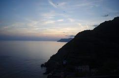 Coucher du soleil italien Images libres de droits
