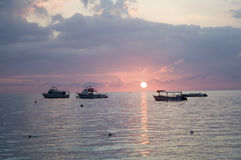 Coucher du soleil jamaïquain Photos stock