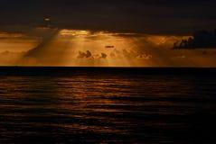 Coucher du soleil jamaïquain Photo stock