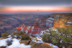 Coucher du soleil, jante du sud, parc national de Grand Canyon, Arizona image stock