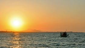 Coucher du soleil Kos Image libre de droits