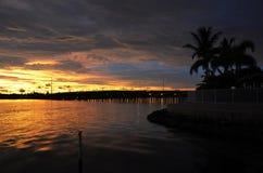 Coucher du soleil, la Floride Photos libres de droits