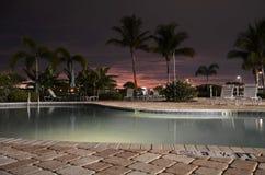 Coucher du soleil, la Floride Photo libre de droits
