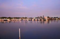 Coucher du soleil, la Floride Photographie stock