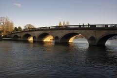 Coucher du soleil la Henley-sur-Tamise Oxfordshire photo libre de droits