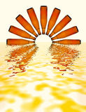 Coucher du soleil à la mer de bière Photographie stock libre de droits