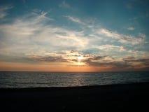 Coucher du soleil, la Mer Noire Photographie stock