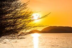 Coucher du soleil Langkawi images stock