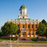 Coucher du soleil Le Conseil Hall de Salt Lake City au coucher du soleil Photo stock