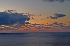 Coucher du soleil Leucade Grèce Photo stock