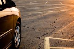 Coucher du soleil/lever de soleil de parking Images libres de droits