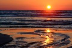 Coucher du soleil méditerranéen photos libres de droits