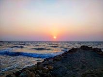 Coucher du soleil magique Photo libre de droits