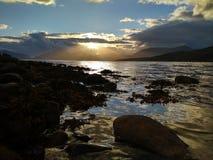 Coucher du soleil magique Photographie stock libre de droits
