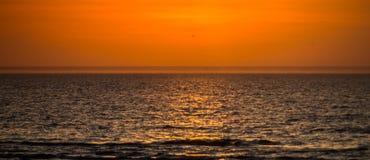 coucher du soleil magique de couleur image stock