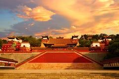 Coucher du soleil magique de palais d'été, Pékin photographie stock
