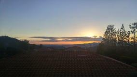 Coucher du soleil magnifique Image libre de droits