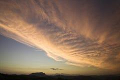 Coucher du soleil majestueux Images libres de droits