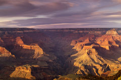 Coucher du soleil majestueux Rim Grand Canyon National Park du sud Arizona Image stock