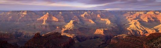 Coucher du soleil majestueux Rim Grand Canyon National Park du sud Arizona Photos libres de droits