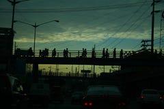 Coucher du soleil maldivien Photo libre de droits